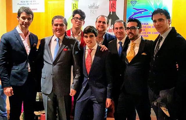 Luis Manuel Terrón junto a sus nuevos mentores