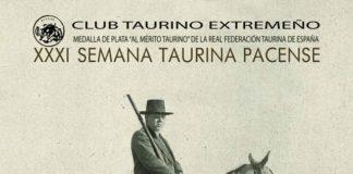 Cartel anunciador de la XXXI Semana Taurina Pacense del Club Taurinoa Extremeño de Badajoz