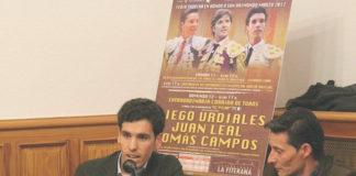 Tomás Campos durante el acto de presentación del cartel de Fitero