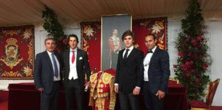 Ambel y Medina junto a los maestros Reina y Cartujano en la entrega de premios de la Real Maestranza de Sevilla