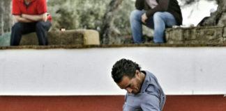 Iván Fandiño durante un tentadero reciente en la ganadería de Cayetano Muñoz (FOTO: Gallardo)