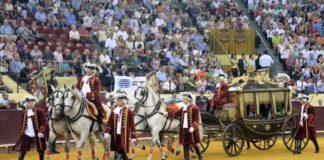 Imagen de los prolegómenos de una corrida a la usanza portuguesa (FOTO: Joao Silva-Aplausos)