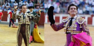 Ferrera y Garrido con sus trofeos en la plaza de Valladolid (FOTO: Arjona-Aplausos)