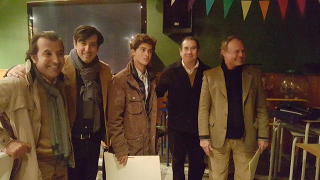 Manolo Vázquez, padre e hijo, junto a Pepe Luis, José Luis Cazalla y Antonio Girol