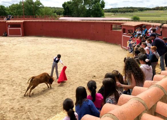 Escolares de Badajoz visitan Los Cansaos con Perera