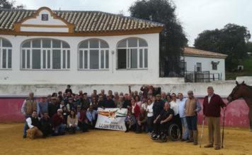 Los socios de la peña en Las Monjas