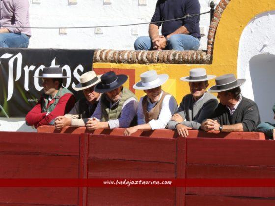 Los seis mayorales en su burladero