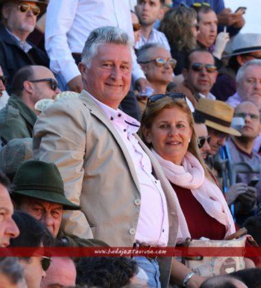 Antonio Rodríguez y señora, aficionados de pro